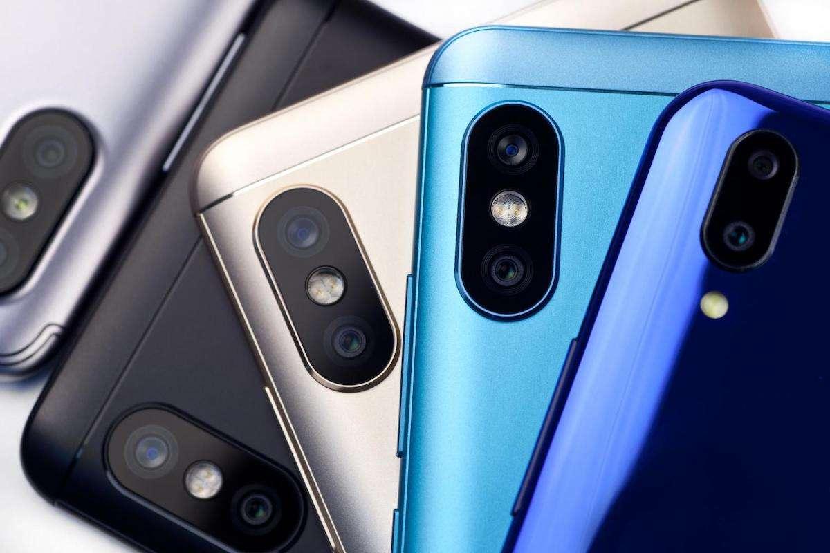 Produkt-Foto von Smartphones